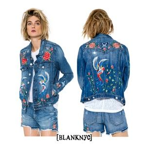 NEW Blank NYC Phoenix Embroidered Denim Jacket